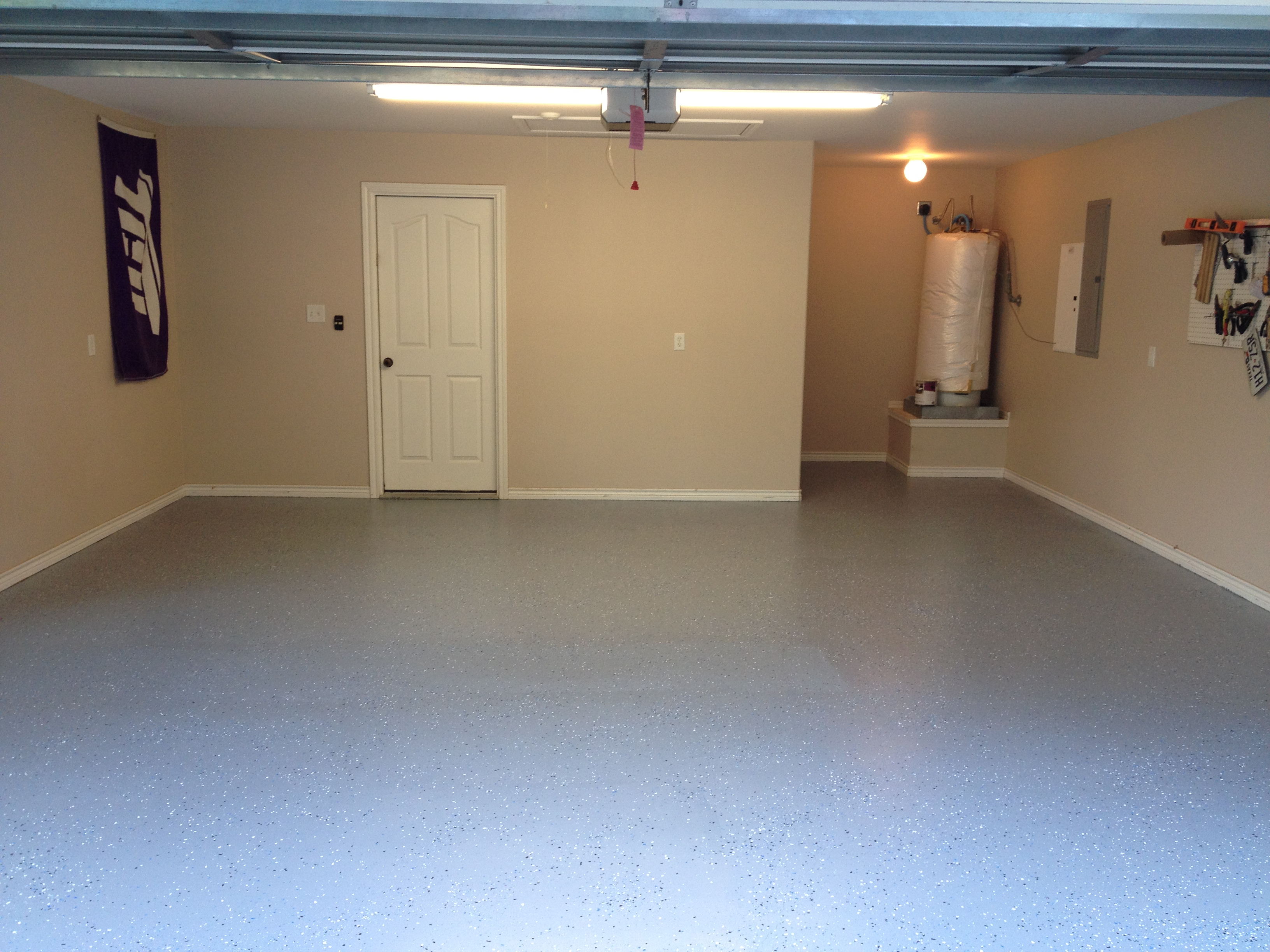 97 garage floor makeover diy garage floor makeover with for Garage slab